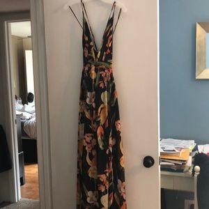 Black floral maxi dress BRAND NEW